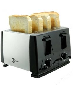 4 Slice Toaster (Model: BT-410) steeliness steel housing black